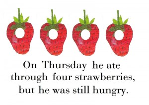 4 strawberries